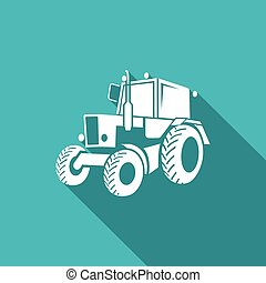Tractor icon. Vector Illustration - Vector Isolated Flat...