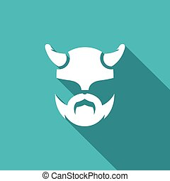 Viking icon. Vector Illustration.