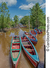 Fishing Boats - Fishing boats in a small creek