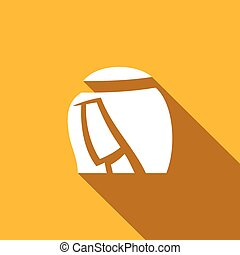 Arabic man icon. Vector Illustration - Vector Isolated Flat...
