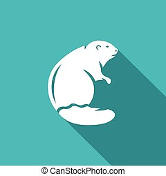 Beaver icon. Vector Illustration. - Vector Isolated Flat...