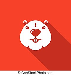 Beaver head icon. Vector Illustration. - Vector Isolated...
