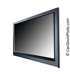 LCD tv screen - Black LCD tv screen