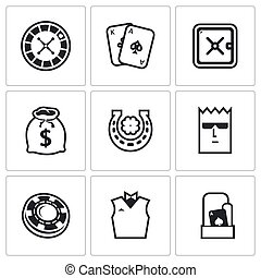 Casino icons Vector Illustration - Vector Isolated Flat...