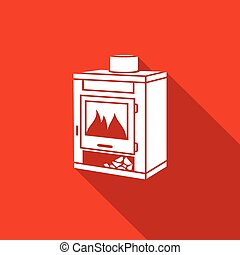 Coal oven icon. Vector Illustration. - Vector Isolated Flat...