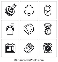 Incentives life icons Vector Illustration - Vector Isolated...