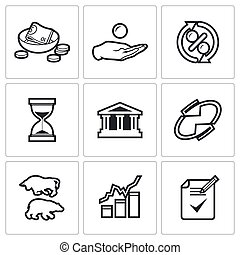 Loan icons Vector Illustration - Vector Isolated Flat Icons...