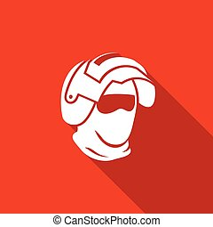Riot helmet icon Army Special Forces head Vector...