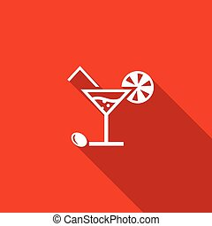 Cocktail icon. Vector Illustration.