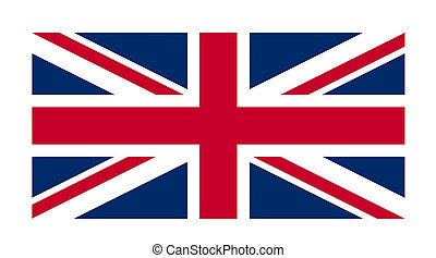 Great Britain flag against a white background