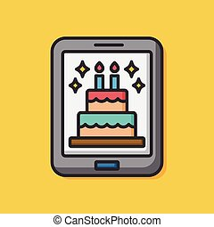 birthday e-card icon