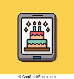 birthday e-card icon