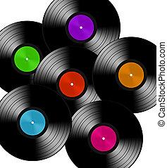 different vinyls record lp album disc