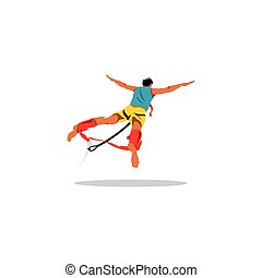 Bungy jumping sign. Vector Illustration. - Branding Identity...
