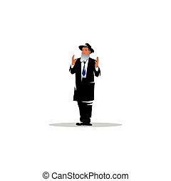 Jewish man sign. Jew. Vector Illustration. - Branding...