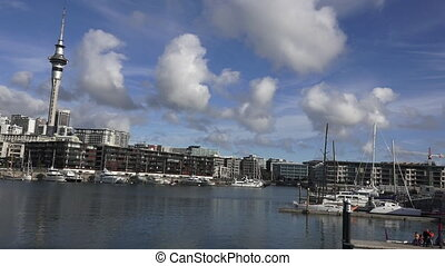 Auckland Viaduct Harbor Basin.It's a former commercial...