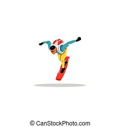 Sky surfing man sign Vector Illustration - Branding Identity...