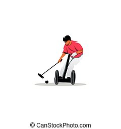 Segway polo sport sign. Vector Illustration. - Branding...