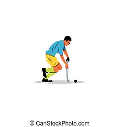 Field Hockey player sign Vector Illustration - Branding...