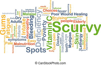 Scurvy background concept - Background concept wordcloud...