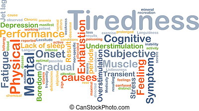 Tiredness background concept - Background concept wordcloud...