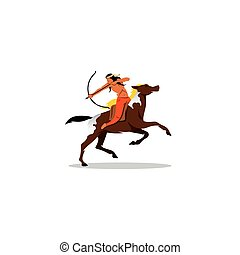 Indian archery riding a horse - Branding Identity Corporate...