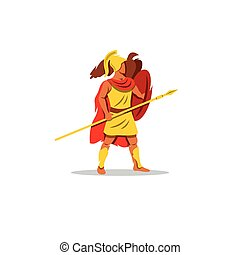 Ares sign. The Mythological Greek god of light, playing a lyre.