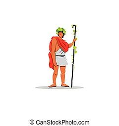 Dionysus sign. The Mythological Greek god of wine,...