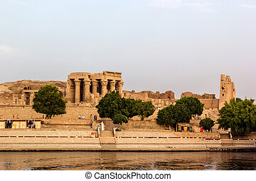 Nile Kom ombo - a horizontal view of the Temple of Kom Ombo...