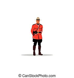 Mountie sign Canada police Vector Illustration - Branding...