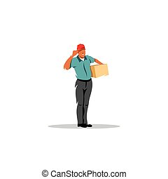 Courier service parcel post sign Vector Illustration -...