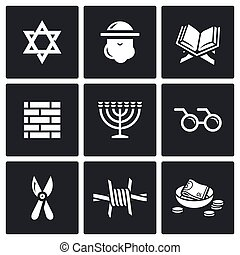 Israel icons set. Vector Illustration. - Vector Isolated...
