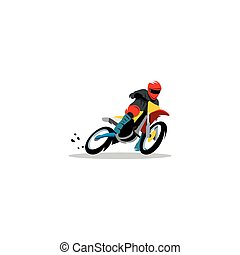 Motocross sign. Vector Illustration.