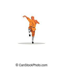 Shaolin monk sign. Vector Illustration. - Branding Identity...