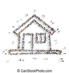 people shape  house cartoon