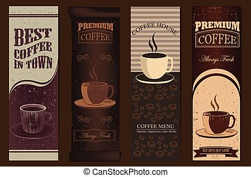 Vintage Coffee banners