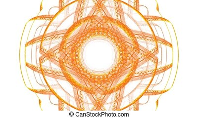 Runes of fire. With alpha channel. - HD abstract fractal art...