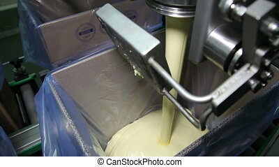Spill in The Production Butter on The Assembly Line - Spill...