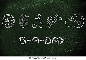 5-a-day fruit and vegetables - nutrition and health: eating...