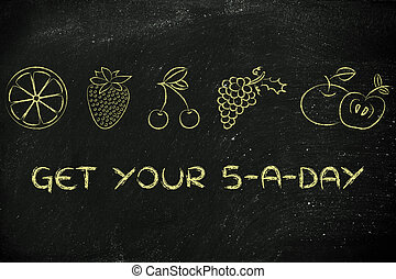 get your 5 a day fruit and vegetables - nutrition and...