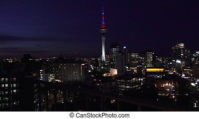Urban view of Aucklan Skyline - Aerial view of Auckland...