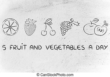 5-a-day fruit and vegetables - nutrition and health: five...