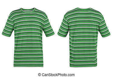 green striped t-shirt on white