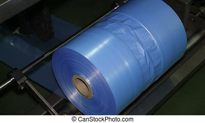 Plastic Bags on a Roll in The Production - Plastic Bags on a...