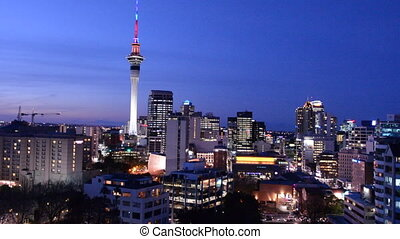 Panoramic urban view of Auckland - Panoramic view of...
