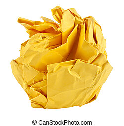 yellow paper Isolated on White Background