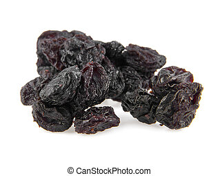 raisin on a white background