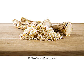 horseradish on a white background