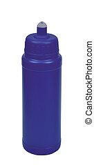 Blue Plastic bottle isolated on white background