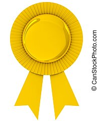 Blank award ribbon rosette. - Blank award ribbon rosette...